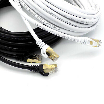 RJ45 CAT8 Network Ethernet Cable Gold Ultra-thin 40Gbps SSTP LOT LAN Modem Lead • 7.45£