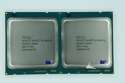 Matched Pair Of Intel Xeon E5-2667 V2 Eight Core SR19W Processor W/Grease • 168.40£