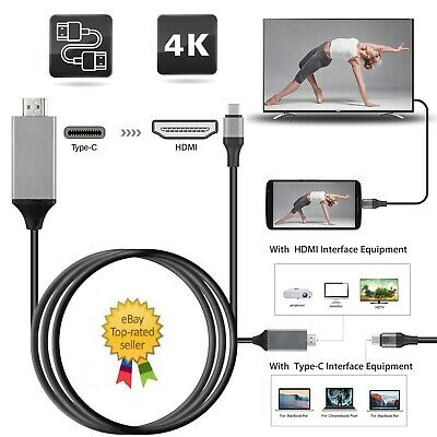 USB-C Type C To HDMI Cable 4K HD TV Converter Adapter For Samsung Huawei Macbook • 6.49£