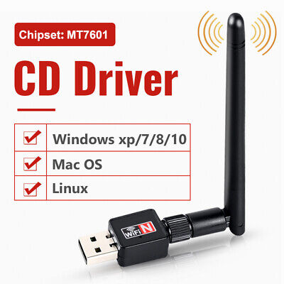 600Mbps 2.4G 5G USB WiFi Adapter Dongle Network Card Antenna Wireless For PC UK • 5.69£