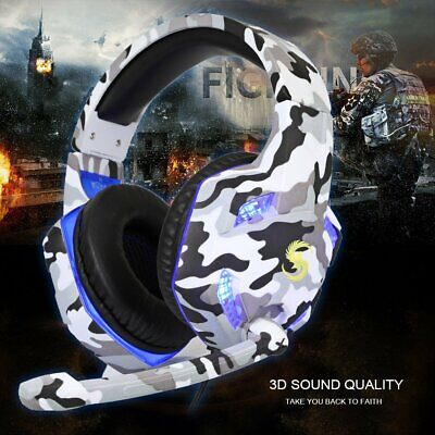 K17 Gaming Headset LED Headphones With Mic For Xbox One/PS4/PC/Nintendo Switch • 16.55£