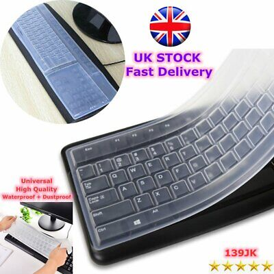 Universal Silicone Desktop Computer Keyboard Cover Skin Protector Film Cover PM • 1.86£