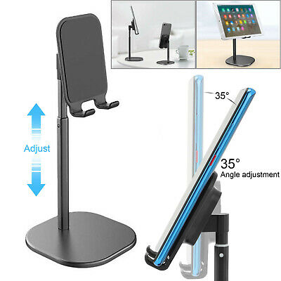 Universal Tablet Stand Holder Mobile Phone Desk Mount For IPhone IPad Samsung • 10.89£