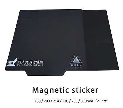3D Printer 2 Part Magnetic Heat Bed Sticker Flexible Plate For Square Bed • 13.99£