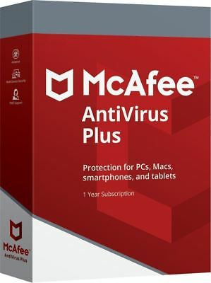 Mcafee Antivirus Plus 2020 Ten Devices 1 Year-pc Android Ios Iphone • 3.95£