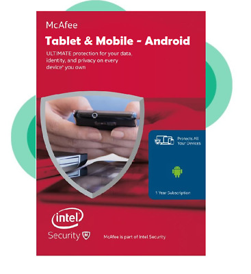 Download McAfee 2020 Android Tablet & Mobile Internet Security Antivirus 1 Year • 2.75£