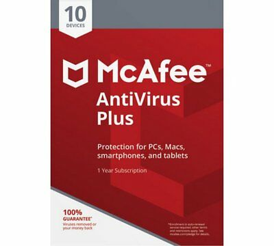 Download McAfee Antivirus PLUS 2020 1 Year Ten Devices WINDOWS ANDROID • 3.75£