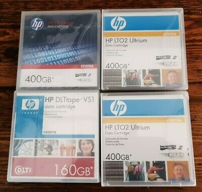 NEW HP C8007A + 3X  C7972A Data CARTRIDGE TAPES Sealed • 35£
