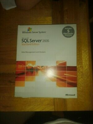 Sql Server 2005 Standard Edition With 5 CALS • 25£