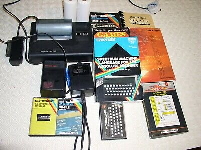 Sinclair ZX Spectrum Computer Bundle Of Accessories, Printer,Games And Books. • 10£