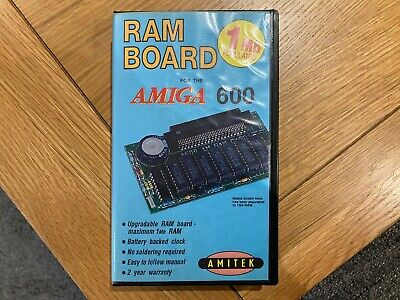 Vintage Amitek RAM Board For Commodore Amiga 600 A600 - Box And User Manual Only • 15£