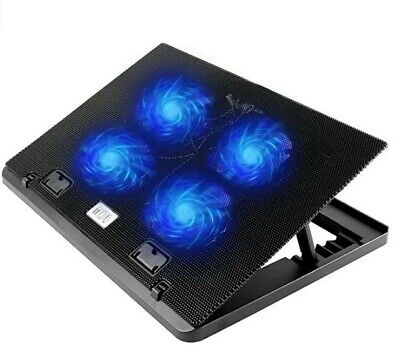 TONOR Laptop Cooling Pad For 12 To 17 Inches PC Adjustable Cooler Pad Quite Fans • 11£
