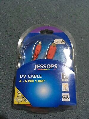 Jessops Gold Series DV Cable 4-6 Pin 1.8m • 1.10£