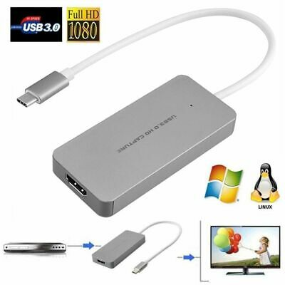 USB 3.0 Type C 1080P HD HDMI Video Capture Card Drive-free Live Streaming • 49.99£