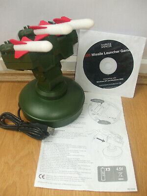 Marks&spencers Usb Missile Launcher Computer Controlled Rocket Launch System M&s • 25.99£
