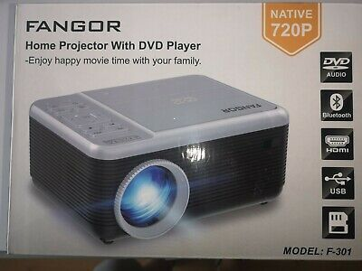 FANGOR Home Projector With Integrated DVD Player • 80£