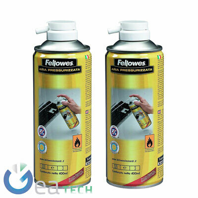 Cylinders Ad Air Compressed Pressurized Fellowes Cleaning PC And Components 2Pcs • 25.75£