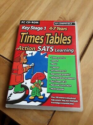 Key Stage 1 Times Tables Action SATS Learning Pc Cd Rom • 0.99£