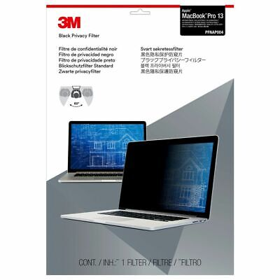 NEW 3M PFNAP004 Black Privacy Filter For Apple MacBook Pro 2012-2015 13  Screen • 21£