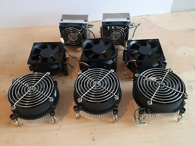 PC Heatsinks & Fans - LGA775 - Job Lot (x 8) • 27.75£