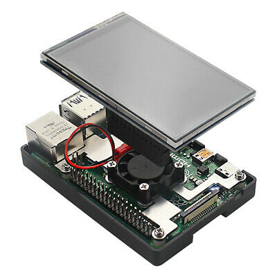 3.5 Inch TFT Touch Screen With Case Fan Radiator Kit For Raspberry Pi 4B • 20.94£