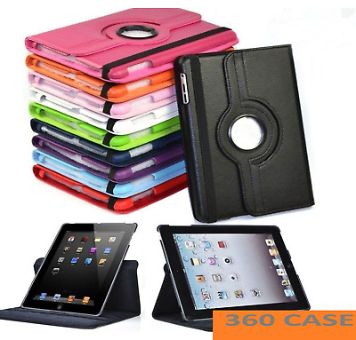Leather 360 Rotating Smart Case Cover Apple IPad 8th 7th Generation 10.2  2020  • 6.48£