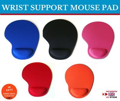 Anti Slip Foam Mouse Pad With Comfortable Wrist Rest Support For PC Laptop Mac • 3.09£