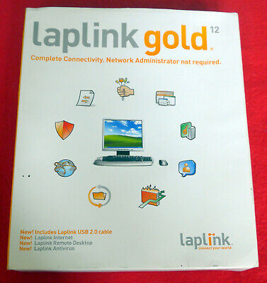 LAPLINK Gold 12 Software Includes USB 2.0 Cable. New But Box Opened. • 13.50£