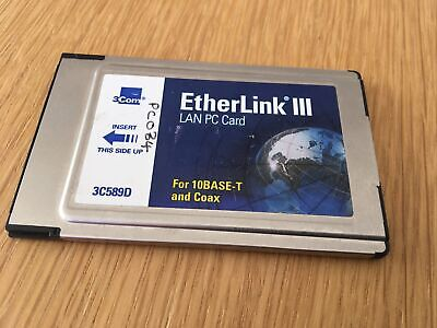 EtherLink III PCMCIA LAN PC Card - 3C589D - Without Cable • 15£