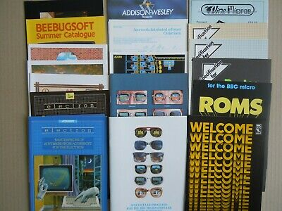 BBC MICRO ACORN ELECTRON VARIOUS LEAFLETS EARLY 1980s GREAT CONDITION VINTAGE • 16.99£