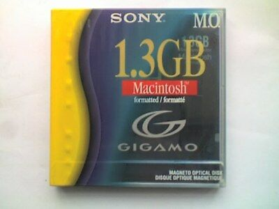 SONY REWRITABLE 3.5  1.3Gb MAGNETO-OPTICAL DISK - MAC FORMATTED - SEALED........ • 19.99£