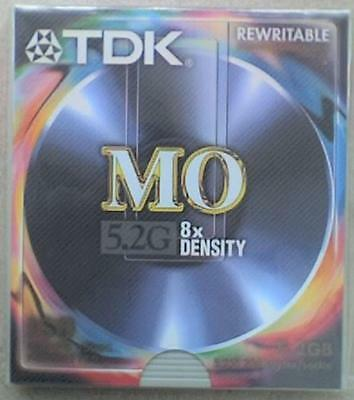 TDK REWRITABLE 5.25  5.2Gb 8 X Density 2048b/s MAGNETO-OPTICAL DISK - NOS,.. • 15.50£