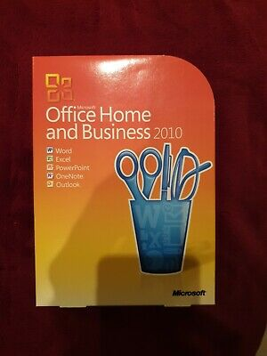 Microsoft Office 2010 Home And Business Word Outlook Excel PowerPoint (GENUINE) • 35.30£