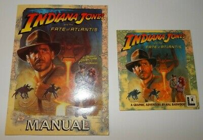 Indiana Jones And The Fate Of Atlantis LucasArts PC CD & Manual Great Condition! • 20£