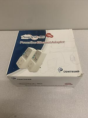 Comtrend PowerGrid 902 - 200Mbps Powerline Ethernet Adaptors - Boxed Set Of 2 • 15£