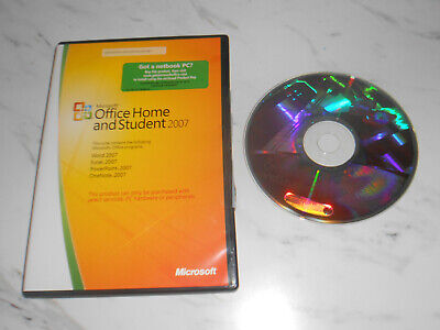 Microsoft Office Home And Student 2007 Software FAST DISPATCH • 11.99£