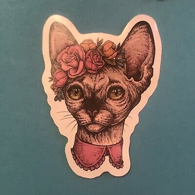 Realistic Funky Colourful Cat Stickers Waterproof • 2.99£