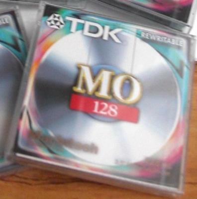 TDK REWRITABLE 3.5  128Mb MAGNETO-OPTICAL DISK - MAC FORMATTED - SEALED • 5.50£