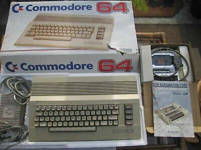 Commodore 64 Boxed, 1 Joystick, Mouse, Data Cassette Unit, Psu, Games, Manual • 39£