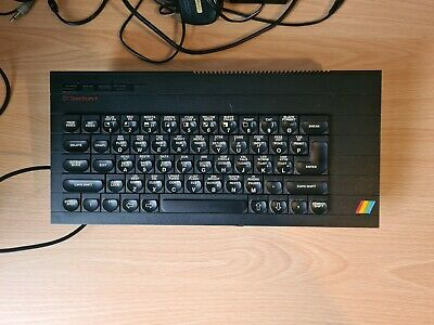 Sinclair Zx Spectrum + Console With Power Outlet And Av Cable Working Vintage 84 • 30£