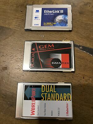 Three PCMCIA  Modems • 0.99£