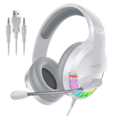 3.5mm Q2 Gaming Headset MIC RGB LED Headphones For PC Laptop PS4 PS5 Xbox One • 11.95£