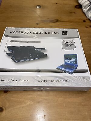 My-Link Black Notebook Laptop Stand Cooling Pad Adjustable Height • 5.99£