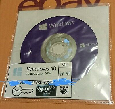 Microsoft Windows Pro 10 64-bit a Copy Of The Original With A Legal License Key • 30£