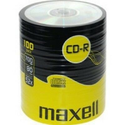 600 Maxell CD CD-R 700mb 80min 52X Non Printable Surface In Spindles • 86.59£