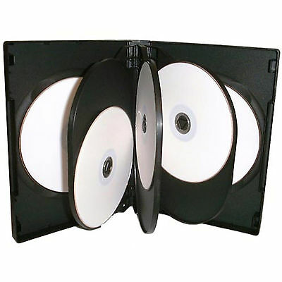 10 X CD DVD 27mm Black DVD 8 Way Case For 8 Disc - Pack Of 10 • 9.28£