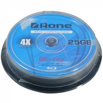 20 Aone Blu Ray Blank Discs Full Face Printable 25GB BD-R *SENT 48HR COURIER* • 12.99£