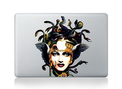 Medusa And Apple Macbook Air/Pro 13  Removable Vinyl Sticker  • 8.80£