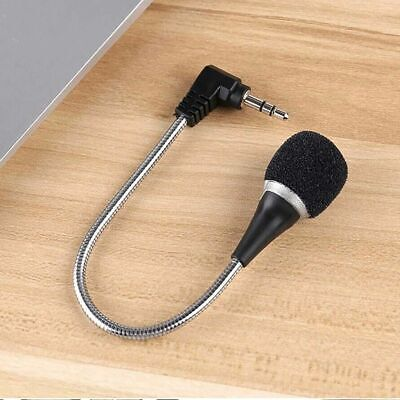 3.5mm Flexible Mini Microphone Mic For Laptop Notebook PC Podcast Skype Chat • 3.95£
