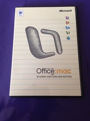 Microsoft Office Mac 2004 Student & Teacher Edition Retail With Product Key  • 14.99£